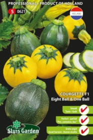 Courgette Eight Ball F1 & One Ball F1