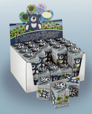 Greengift, Happy-Bear bleu 40 pcs en showbox